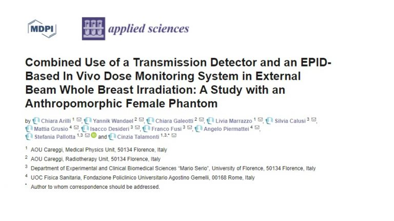 Talamonti - Combined use of IQM and Portal Dosimetry