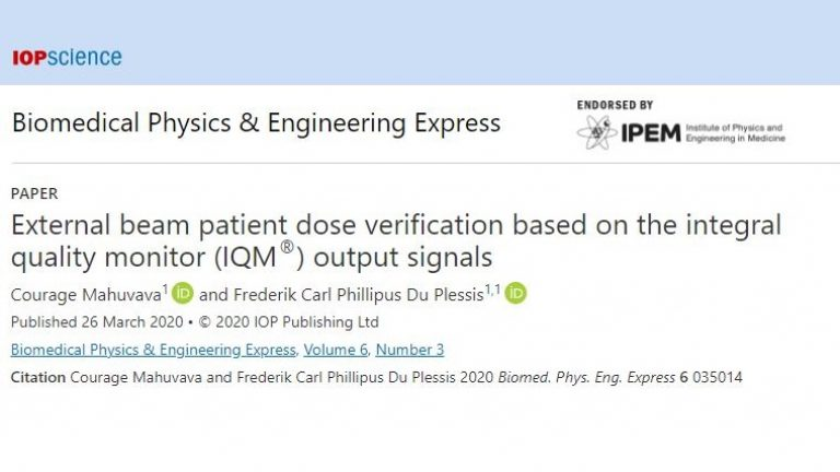 UFS - External Beam patient dose verification