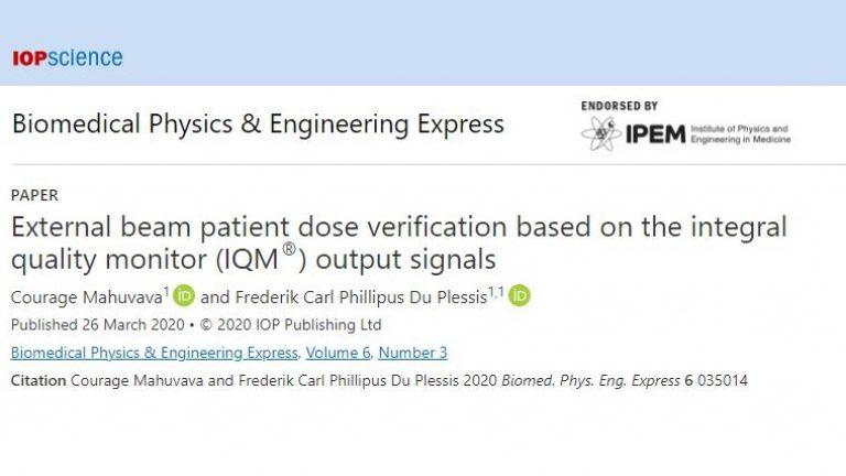 UFS - External Beam patient dose verification